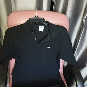 Lacoste 16 longsleeved polo shirt black France